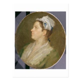 Anne Hogarth (1701-71), c.1740 (Öl auf Leinwand) Postkarte