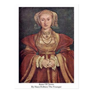 Anne von Cleves durch Hans Holbein das jüngere Postkarte