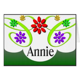 Annie Anmerkungs-Karte Mitteilungskarte