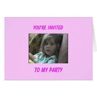 Annie Einladungs-Karte - besonders angefertigt Karte