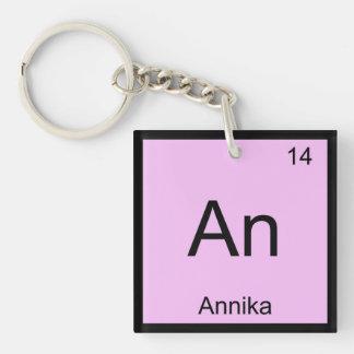 Annikanamenschemie-Element-Periodensystem Einseitiger Quadratischer Acryl Schlüsselanhänger