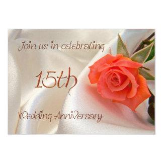 anniverary Party Einladung der 15. Hochzeit