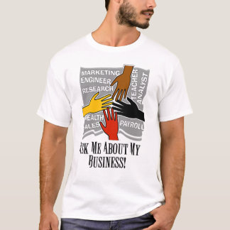 Annoncieren Sie den Ihren grundlegenden T - Shirt