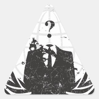 Anonym Dreiecks-Aufkleber