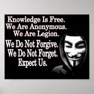 Anonym Plakatdruck