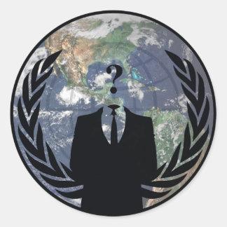 Anonym Runder Aufkleber