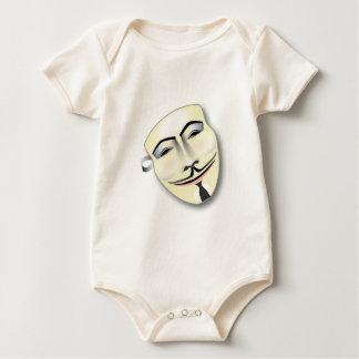 Anonyme Maske Baby Strampler