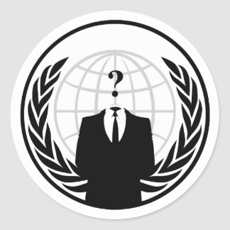 Anonymer internationaler Aufkleber