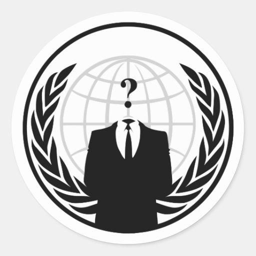 Anonymer internationaler Aufkleber