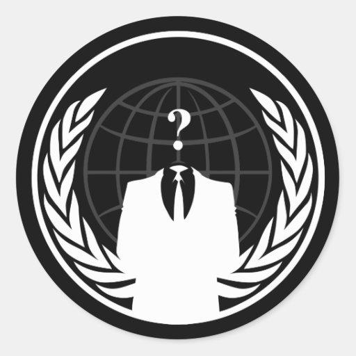 Anonymer internationaler schwarzer Aufkleber