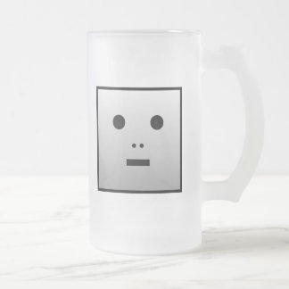 Anonymer Roboter - besonders angefertigt Mattglas Bierglas