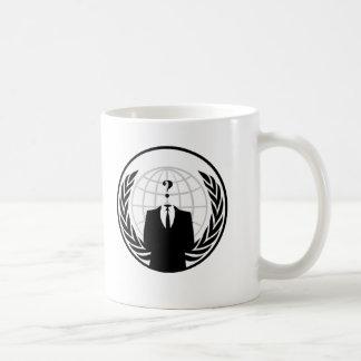 Anonymes internationales Logo Kaffeetasse
