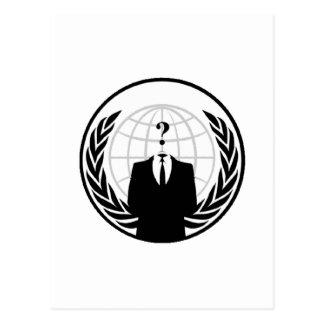 Anonymes internationales Logo Postkarte