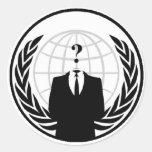 Anonymes internationales Logo Runder Aufkleber