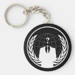 Anonymes internationales schwarzes Keychain Schlüsselband