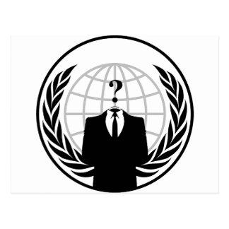 Anonymes Logo Postkarte