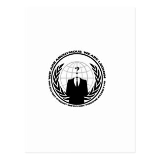 Anonymes Logo w/motto Postkarte