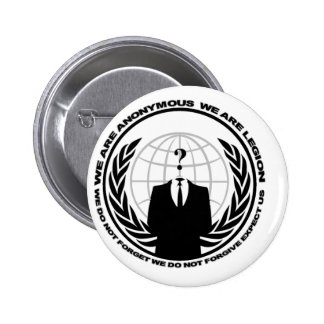 Anonymes Logo w/motto Runder Button 5,1 Cm