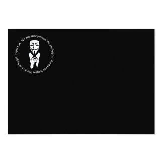 Anonymes Siegel 12,7 X 17,8 Cm Einladungskarte