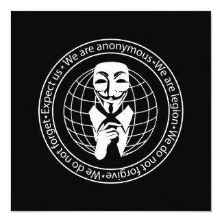 Anonymes Siegel Quadratische 13,3 Cm Einladungskarte