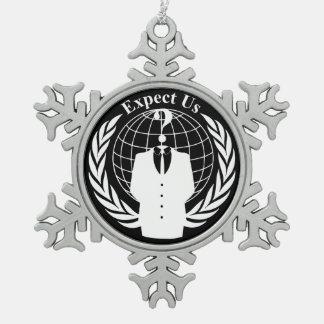 Anonymes Siegel Schneeflocken Zinn-Ornament