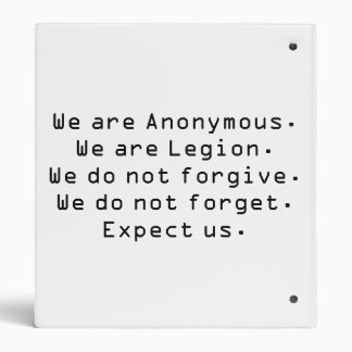 Anonymes w/motto 2,5 cm ordner