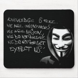 Anonymes Wissen ist freies Mousepad