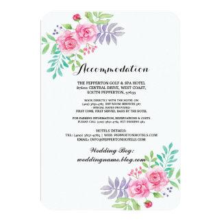 Anpassungs-Wasserfarbe-Hochzeits-Karten-Einsätze Karte
