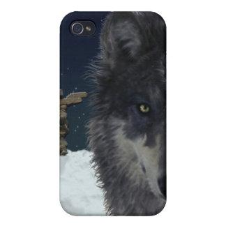 Anpirschender grauer Wolf-cooler Tier-Kunst iPhone