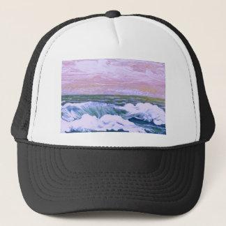 Anruf der Seeozean-Wellen, die Meerblick segeln Truckerkappe