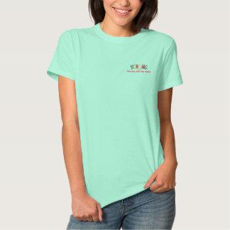 Anruf-Schuss-Krankenschwester Besticktes T-Shirt