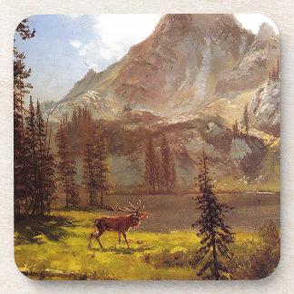 Anruf vom wilden durch Albert Bierstadt 1876-77 Getränkeuntersetzer