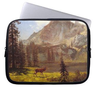 Anruf vom wilden durch Albert Bierstadt 1876-77 Laptop Sleeve