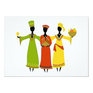 Ansammlungs-Kwanzaa-Feiertags-Party Einladungen