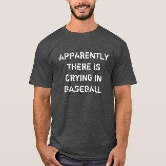 Anscheinend dort schreit im Baseball T-Shirt