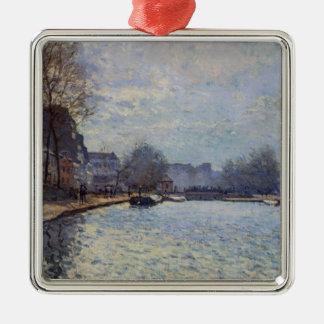 Ansicht Alfred Sisleys   des Kanals St Martin, Silbernes Ornament