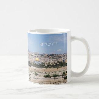 Ansicht alter Stadt Jerusalems, Israel Kaffeetasse
