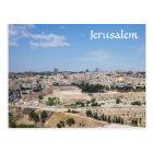 Ansicht alter Stadt Jerusalems, Israel Postkarte
