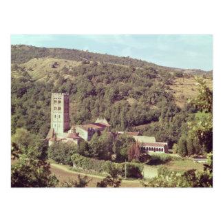 Ansicht der Abtei und des Kirchturms Postkarte