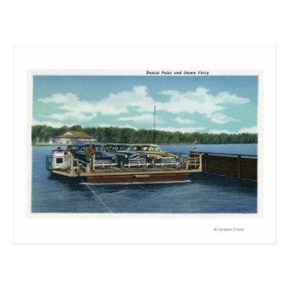 Ansicht der Bemus Punkt-und Laderaum-Fähre Postkarte