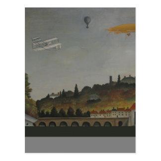 Ansicht der Brücke an Sevres und an den Hügeln Postkarte