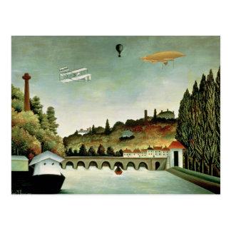 Ansicht der Brücke bei Sevres Postkarte