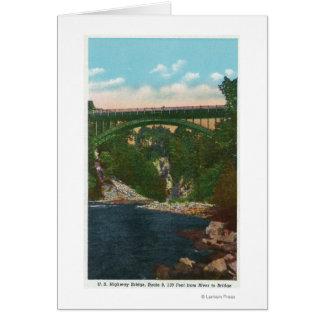 Ansicht der Brücke US Hwy, Weg 9 Karte