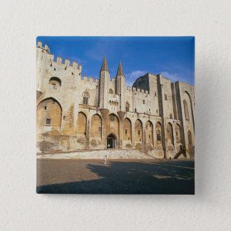 Ansicht der Eingangsfassade des Palastes (Foto) Quadratischer Button 5,1 Cm