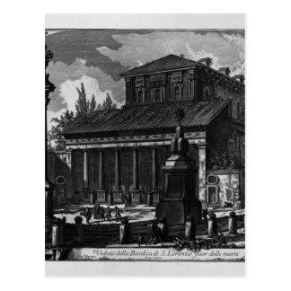 Ansicht der Fassade der Basilika von St.-Kreuz Postkarte
