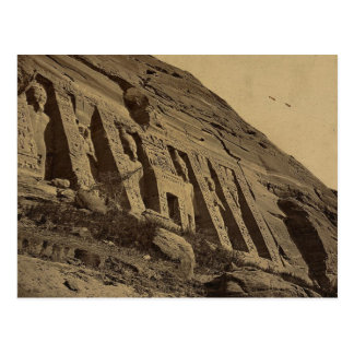 Ansicht der Fassade des kleinen Tempels bei Abū Postkarte