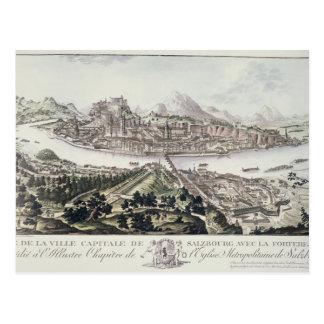 Ansicht der Hauptstadts-Stadt und der Festung von  Postkarten