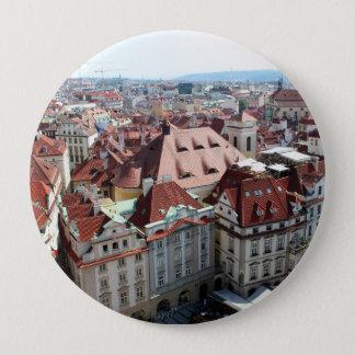 Ansicht der Hauptstadtsstadt von Prag in der Runder Button 10,2 Cm