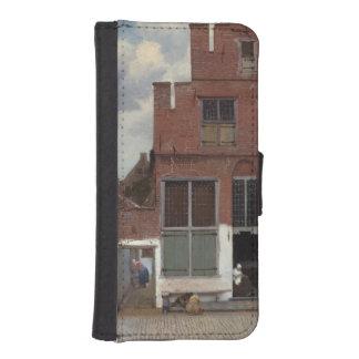 Ansicht der Häuser in Delft durch Johannes Vermeer Geldbeutel Hülle Für Das iPhone SE/5/5s