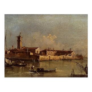 Ansicht der Insel durch Francesco Guardi Postkarte